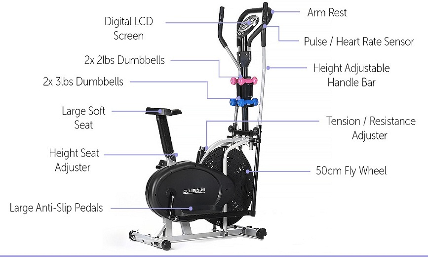 Orbitrek elliptical Bike With Dumball