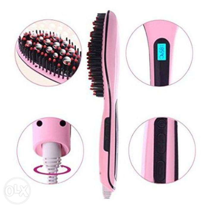 Electric Hair Straightening Brush (LCD)